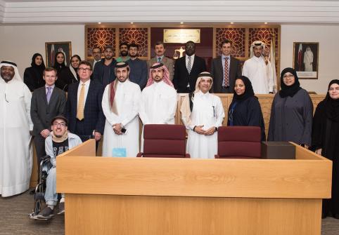 HBKU student delegation visits Qatar International Court