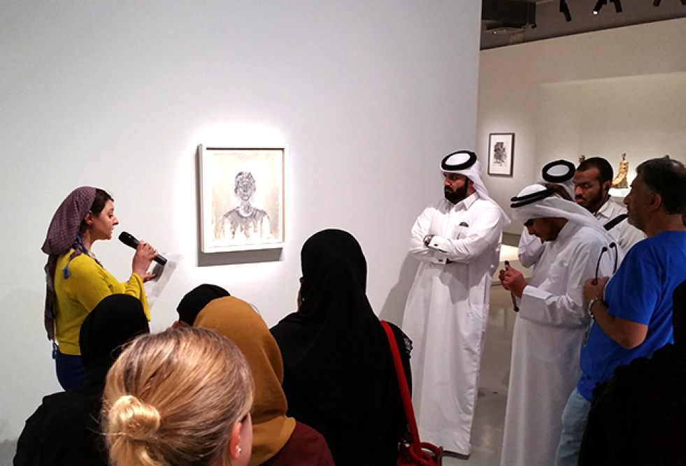 Convergence Point: HBKU Students Apply Audiovisual Translation Technology to Make Art Accessible tothe Visually Impaired