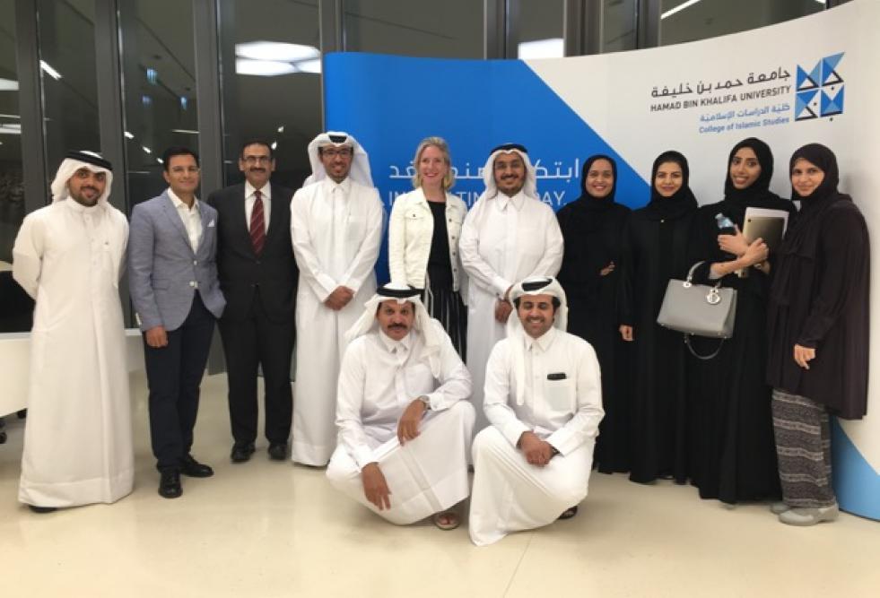 بحضور وفد من جامعة دي مونتفورت من المملكة المتحدة جامعة حمد بن خليفة تستضيف ندوة عن القانون القطري